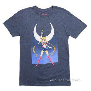 Sailor Moon Blue Grey Crewneck Men's T-Shirt
